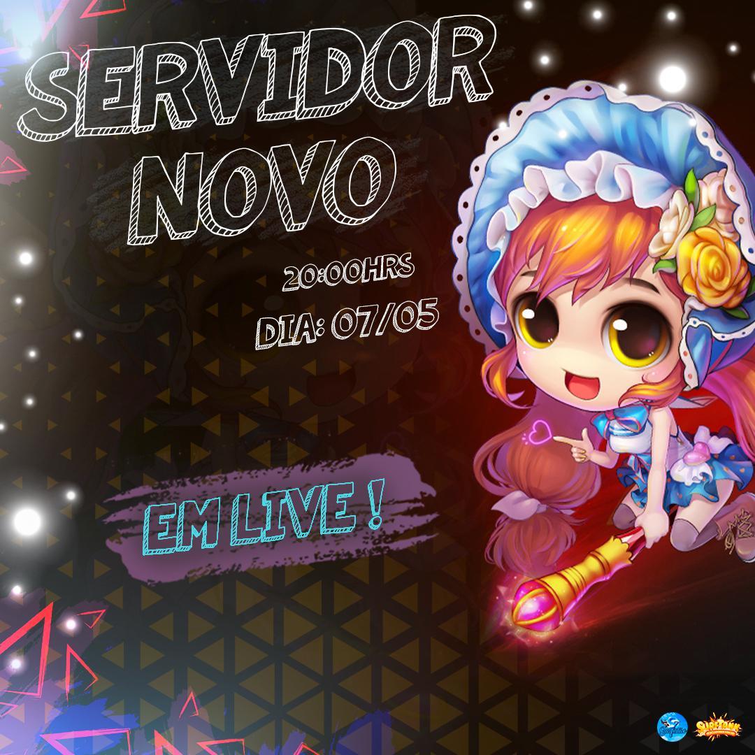 Novo Servidor Sexta Feira 07/05 ás 20:00